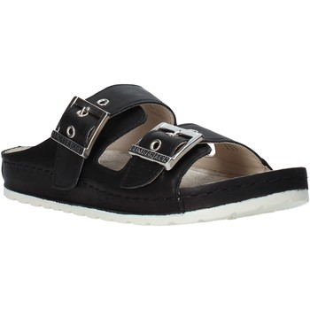 Schoenen Dames Leren slippers Lumberjack SW83506 001 B01 Zwart