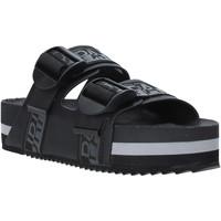 Schoenen Dames Leren slippers Napapijri NA4ESE Zwart