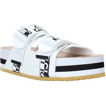 Schoenen Dames Leren slippers Napapijri NA4ESE Wit