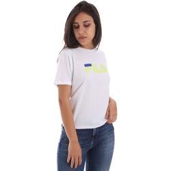 Textiel Dames T-shirts korte mouwen Fila 687614 Wit