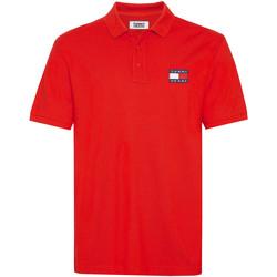 Textiel Heren Polo's korte mouwen Tommy Jeans DM0DM07456 Rood
