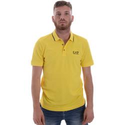 Textiel Heren Polo's korte mouwen Ea7 Emporio Armani 8NPF06 PJ04Z Geel