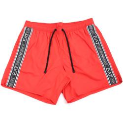 Textiel Heren Zwembroeken/ Zwemshorts Ea7 Emporio Armani 902000 0P734 Rood