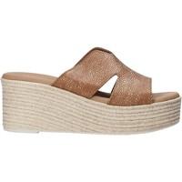 Schoenen Dames Leren slippers Valleverde 34270 Bruin