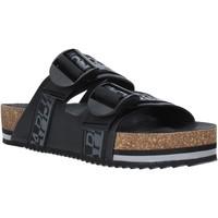 Schoenen Heren Leren slippers Napapijri NA4ETH Zwart