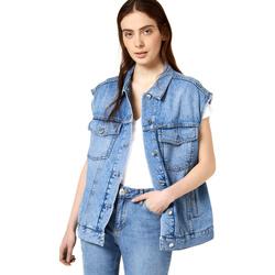 Textiel Dames Spijker jassen Liu Jo FA0344 D4470 Blauw
