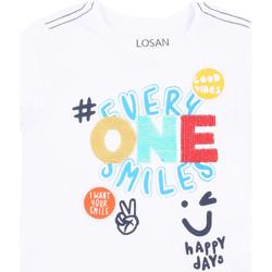 Textiel Meisjes T-shirts korte mouwen Losan 015-1032AL Wit