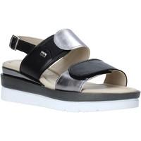 Schoenen Dames Sandalen / Open schoenen Valleverde 32141 Zwart