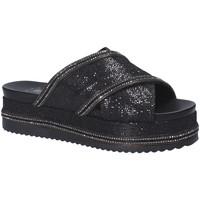 Schoenen Dames Leren slippers Exé Shoes G41006097884 Zwart