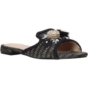 Schoenen Dames Leren slippers Gold&gold A20 GK35 Zwart