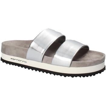 Schoenen Dames Leren slippers Fornarina PE18SA2913 Grijs