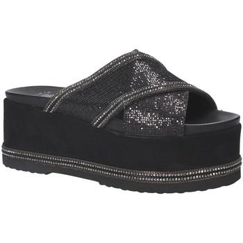 Schoenen Dames Leren slippers Exé Shoes G41007137A30 Zwart