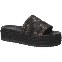Schoenen Dames Leren slippers Exé Shoes G41006777884 Zwart