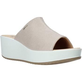 Schoenen Dames Leren slippers IgI&CO 5178522 Beige