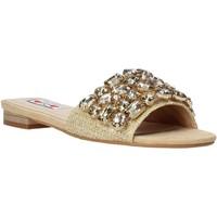 Schoenen Dames Leren slippers Love To Love ALE 1177 Bruin
