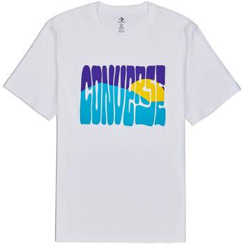 Textiel Heren T-shirts korte mouwen Converse 10018864-A01 Wit