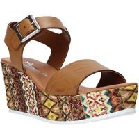 Schoenen Dames Sandalen / Open schoenen Grace Shoes 06 Bruin