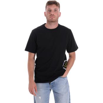 Textiel Heren T-shirts korte mouwen Converse 10018872-A03 Zwart