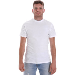 Textiel Heren T-shirts korte mouwen Les Copains 9U9013 Wit