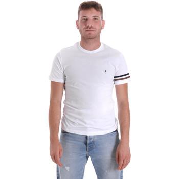 Textiel Heren T-shirts korte mouwen Les Copains 9U9014 Wit