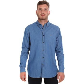 Textiel Heren Overhemden lange mouwen Les Copains 9U2361 Blauw