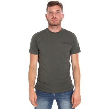 Textiel Heren T-shirts korte mouwen Les Copains 9U9010 Groen