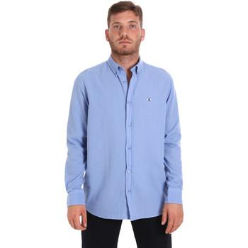 Textiel Heren Overhemden lange mouwen Les Copains 9U2371 Blauw