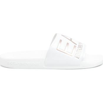 Schoenen Dames slippers Ea7 Emporio Armani XCP001 XCC22 Wit
