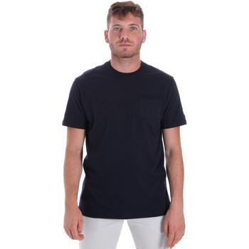 Textiel Heren T-shirts korte mouwen Les Copains 9U9010 Blauw
