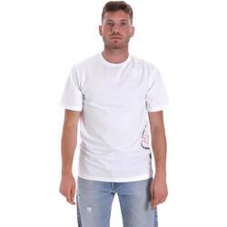 Textiel Heren T-shirts korte mouwen Converse 10018872-A02 Wit