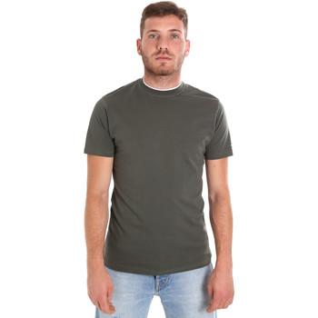 Textiel Heren T-shirts korte mouwen Les Copains 9U9013 Groen