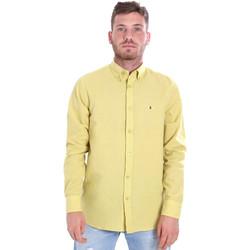 Textiel Heren Overhemden lange mouwen Les Copains 9U2371 Geel