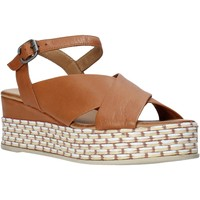 Schoenen Dames Sandalen / Open schoenen Bueno Shoes Q5901 Bruin