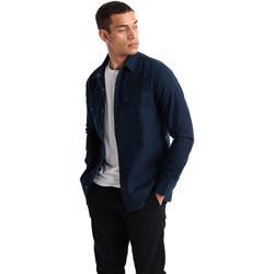 Textiel Heren Overhemden lange mouwen Superdry M4010024A Blauw