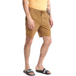 Textiel Heren Korte broeken / Bermuda's Superdry M7110017A Beige