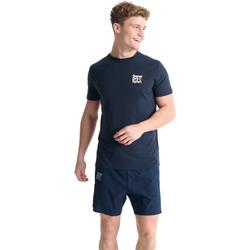 Textiel Heren T-shirts korte mouwen Superdry MS300015A Blauw