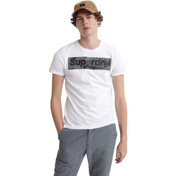 Textiel Heren T-shirts korte mouwen Superdry M1000069A Wit