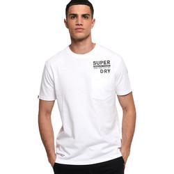 Textiel Heren T-shirts korte mouwen Superdry M1000040A Wit