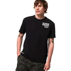 Textiel Heren T-shirts korte mouwen Superdry M1000040A Zwart
