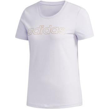 Textiel Dames T-shirts korte mouwen adidas Originals FL9290 Paars