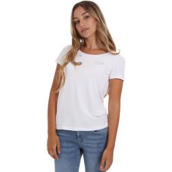 Textiel Dames T-shirts korte mouwen Ea7 Emporio Armani 8NTT64 TJ28Z Wit