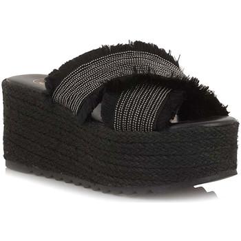Schoenen Dames Leren slippers Exé Shoes G47006247001 Zwart