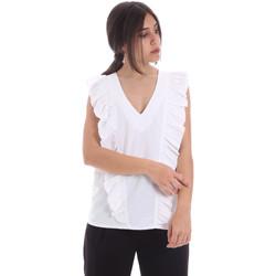 Textiel Dames Tops / Blousjes Gaudi 011BD45031 Wit