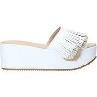 Schoenen Dames Leren slippers Grace Shoes C21 Wit