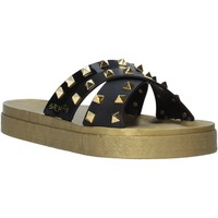 Schoenen Dames Leren slippers Sensi 4390/PY Zwart