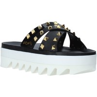 Schoenen Dames Leren slippers Sensi 4380/LX Zwart