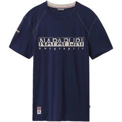 Textiel Heren T-shirts korte mouwen Napapijri NP0A4E3B Blauw