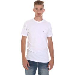 Textiel Heren T-shirts korte mouwen Les Copains 9U9011 Wit