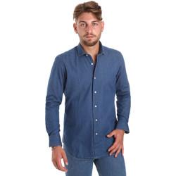Textiel Heren Overhemden lange mouwen Betwoin DENIM78 6635535 Blauw