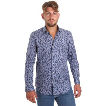 Textiel Heren Overhemden lange mouwen Betwoin D066 6635535 Blauw